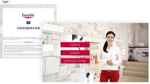 Screenshot Eucerin Videoberater